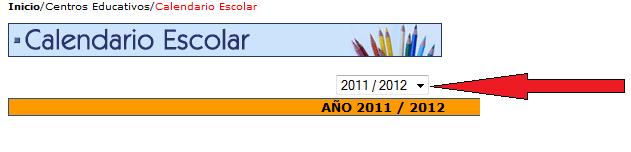 Calendario escolar curso 2012-2013